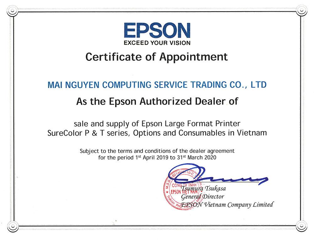 Dealer Certificate